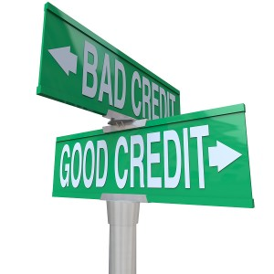 Bad Credit Good Credit Sign