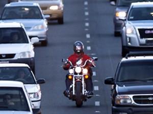 bike lane split